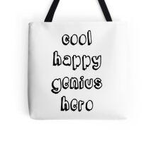 Cool Happy Genius Hero Tote Bag