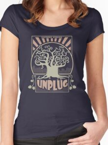 Electronic Overload - UNPLUG Women's Fitted Scoop T-Shirt