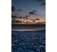 Pebble Sunset Photographic Print