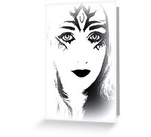 Face of Black&White Fantasy Greeting Card