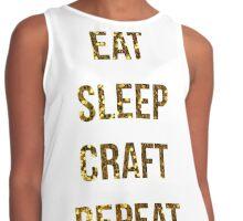 Eat Sleep Craft Repeat Contrast Tank