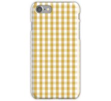 Designer Fall 2016 Color Trends-Spicy Mustard Yellow Gingham Check iPhone Case/Skin
