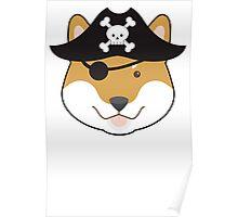 Pirate Doge Shiba Inu T Shirt Poster