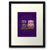 Love You very Much Framed Print