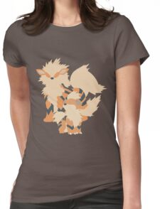Growlithe Evolution Womens Fitted T-Shirt