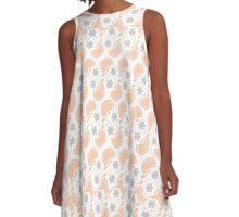Tender peach abstract pattern A-Line Dress