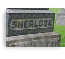 Sherlock's Grave Canvas Print