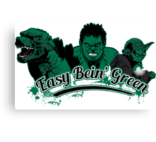 Easy Bein' Green Canvas Print