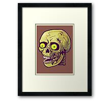 decaying zombie Framed Print