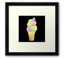 Rainbow Ice Cream Framed Print