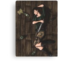 Passed Out Drunk- Elf Canvas Print