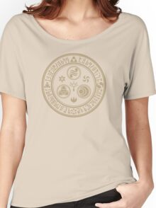 Hero's Mark (Brown) Women's Relaxed Fit T-Shirt