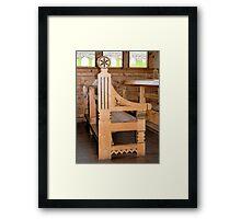 Pew in Sant Olaf Kirke Framed Print