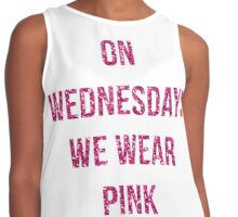 On Wednesdays We Wear Pink Contrast Tank