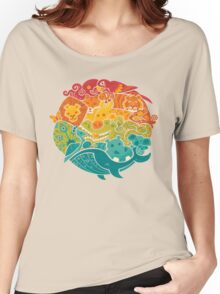Animal Rainbow - cream Women's Relaxed Fit T-Shirt