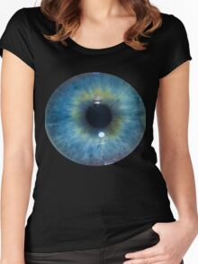 Eyeball - Blue & Green Women's Fitted Scoop T-Shirt
