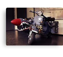 Fantasy Motorcycle, army style Canvas Print