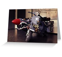 Fantasy Motorcycle, army style Greeting Card