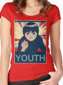 Rock Lee Youth poster Women's Fitted Scoop T-Shirt