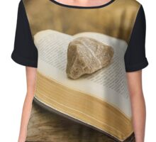 Stone on a Book Chiffon Top