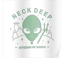 Neck Deep Citizens of Earth Poster