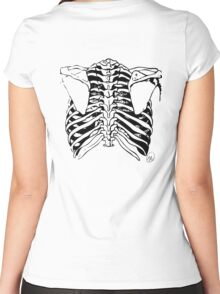 Back of Ribcage Women's Fitted Scoop T-Shirt