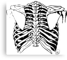 Back of Ribcage Canvas Print