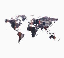 World Map - City One Piece - Short Sleeve