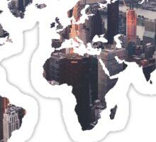 World Map - City Sticker