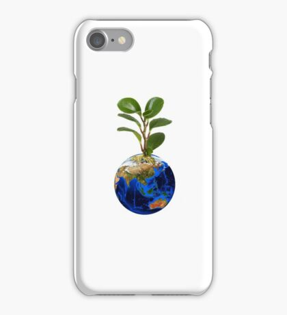 Planet with earth iPhone Case/Skin
