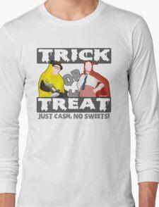 Bottom Halloween 'Trick Or Treat' Design Long Sleeve T-Shirt