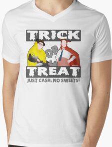Bottom Halloween 'Trick Or Treat' Design Mens V-Neck T-Shirt