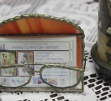 Stained glass business card holder by Maree  Clarkson