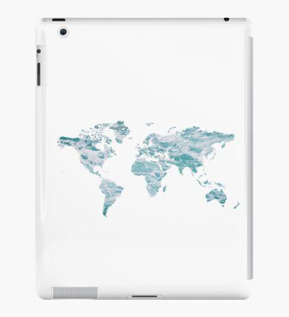 World Map - Water iPad Case/Skin