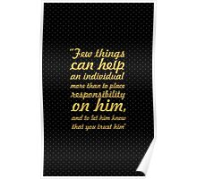 "Few things can help... ""Booker T. Washington"" Inspirational Quote Poster"
