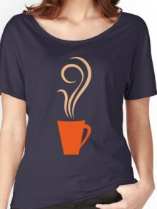Retro coffee mugs pattern Women's Relaxed Fit T-Shirt