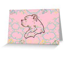 Miko Perfil Pinky 1 Greeting Card