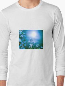 Moon Behind Autumn Fantasy Long Sleeve T-Shirt