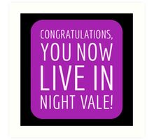 Congratulations, you now live in Night Vale! Art Print