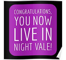 Congratulations, you now live in Night Vale! Poster