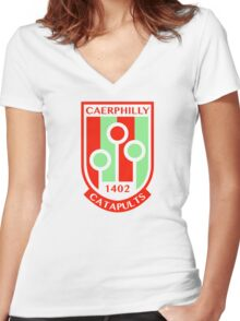 Caerphilly Catapults Women's Fitted V-Neck T-Shirt