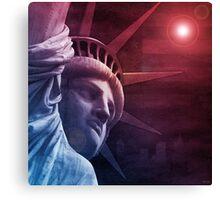 Patriotic Statue of Liberty Canvas Print