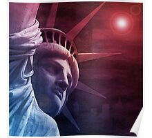 Patriotic Statue of Liberty Poster
