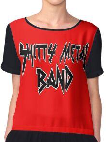 Shitty Metal Band Chiffon Top