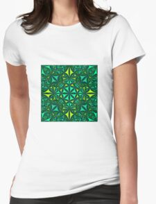 green farbenpracht  Womens Fitted T-Shirt