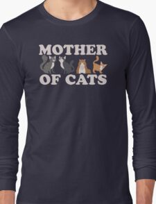 Cute Mother of Cats T Shirt Long Sleeve T-Shirt