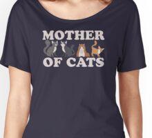 Cute Mother of Cats T Shirt Women's Relaxed Fit T-Shirt