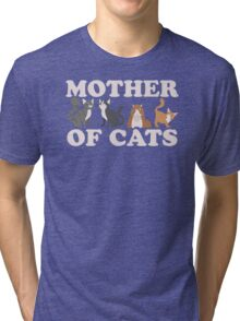 Cute Mother of Cats T Shirt Tri-blend T-Shirt