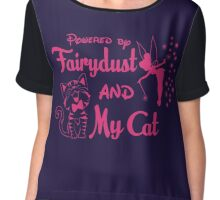 Powered by Fairydust and my cat Tshirt Chiffon Top