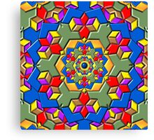 Kaleidoscope Color Pattern Canvas Print